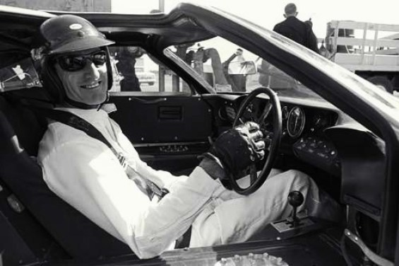 Ken Miles in the cockpit before his famous win in the first 24 Hour race at Daytona. Photo credit: Ford Racing Archives