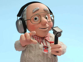 Murray Walker in animated form, from Roary the Racing Car. Chapman Entertainment