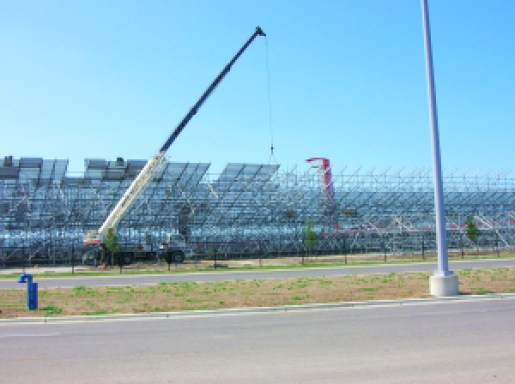 Construction of temporary grandstands for the U.S. Grand Prix is already underway. Tribute Racing
